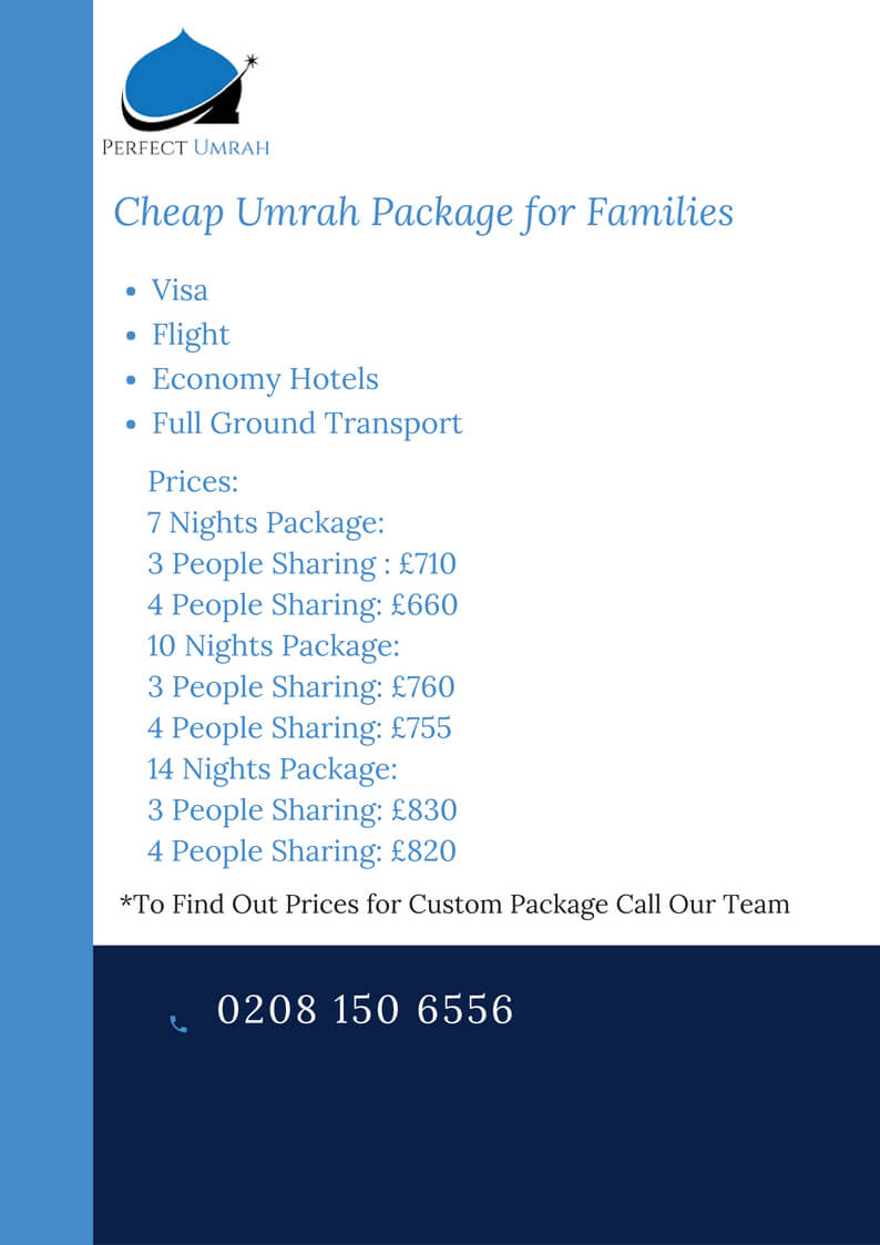 cheapest umrah package for families