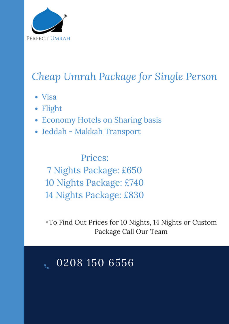 cheapest umrah package for Single Person